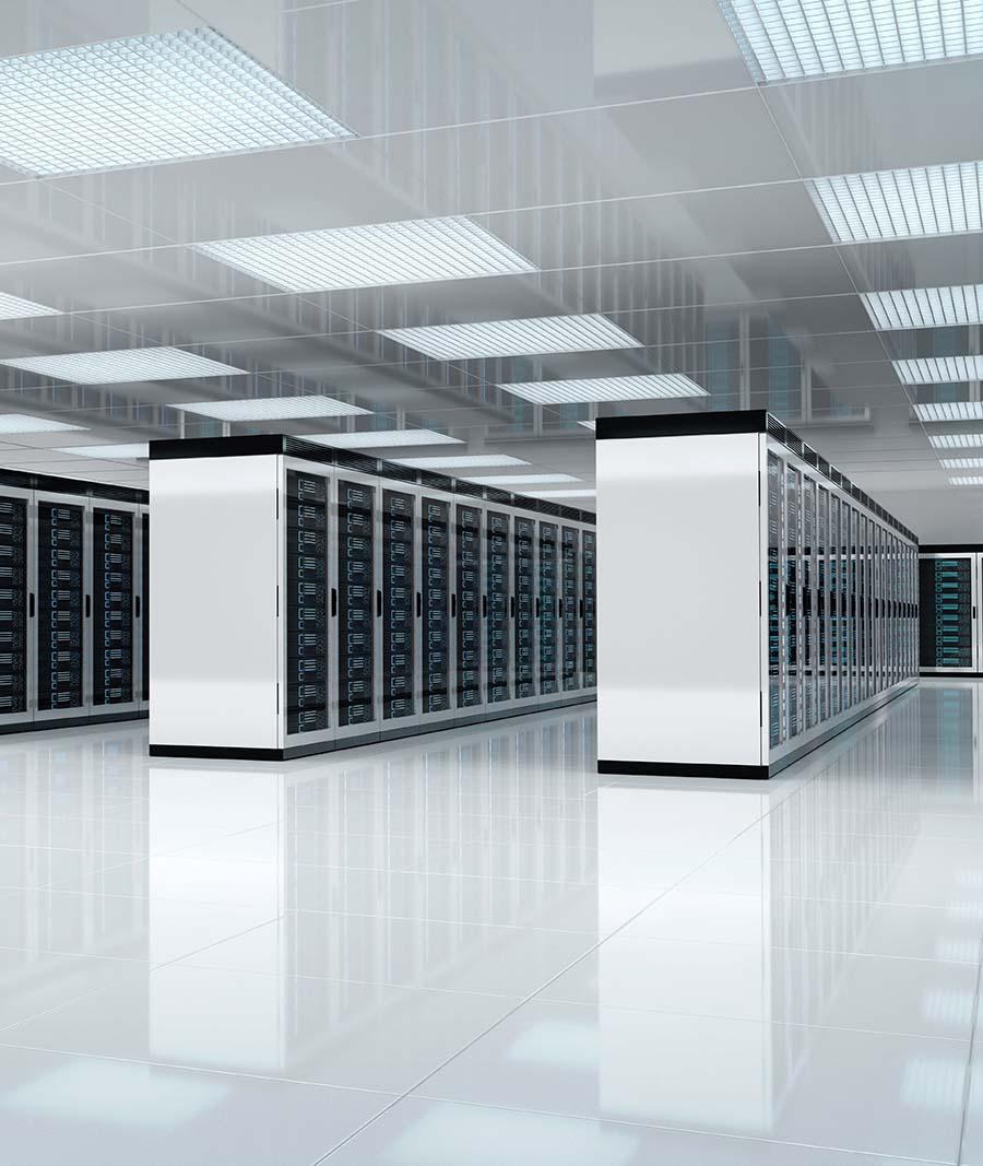 Server room in a datacentre