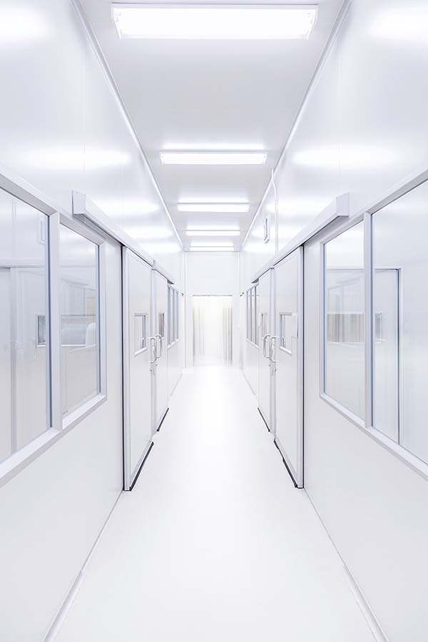 science lab clean white room